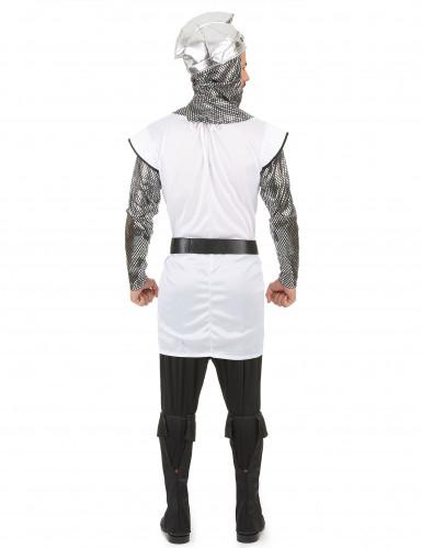 Zilverkleurig en wit ridderkostuum voor mannen-2