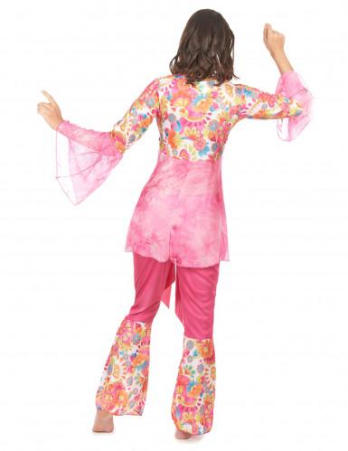 Roze hippiekostuum voor dames-2