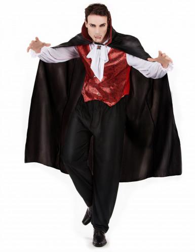 Halloween vampierenkostuum met cape voor mannen