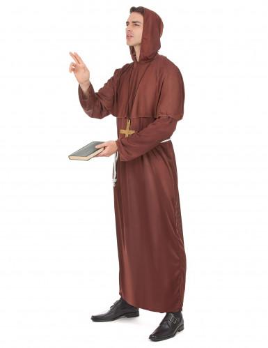 Bruin monniken kostuum voor mannen-1