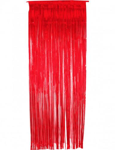 Glinsterend rood gordijn
