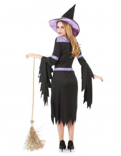 Heksen kostuum met paarse hoed voor vrouwen-2