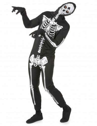 Halloween skeletten kostuum voor mannen-1