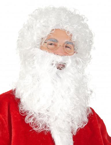 Kerstmanbaard-en pruik
