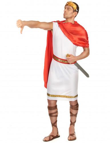 Witte en rode Romeinse outfit voor mannen-1