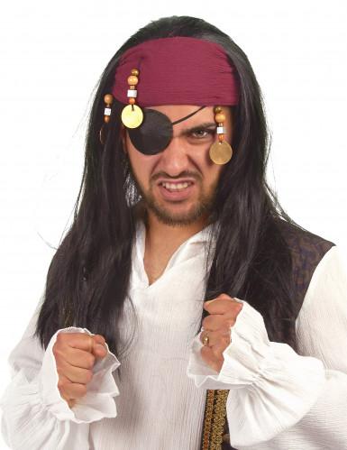 Piratenpruik met hoofdband voor volwassenen