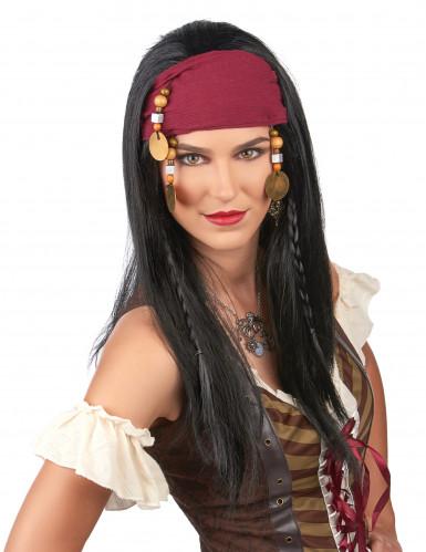 Piratenpruik met hoofdband voor volwassenen-1