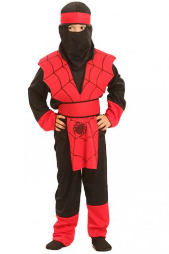 Spinnen ninjakostuum voor jongens