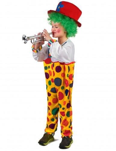 Kleurrijk clown kostuum met stippen voor kinderen-1