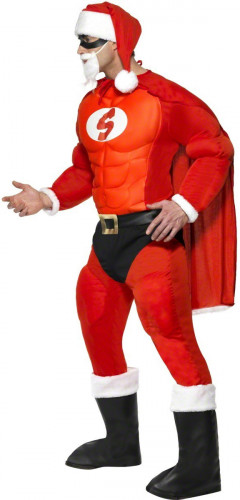 Pak van een gespierde kerstman voor mannen-2