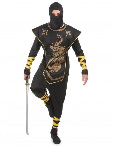 Zwarte ninja kostuum voor mannen