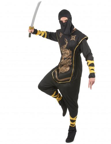 Zwarte ninja kostuum voor mannen -1