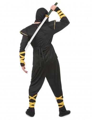 Zwarte ninja kostuum voor mannen-2