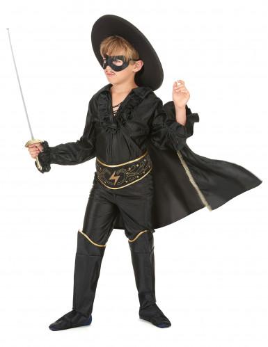 Zwarte musketier kostuum voor jongens-1
