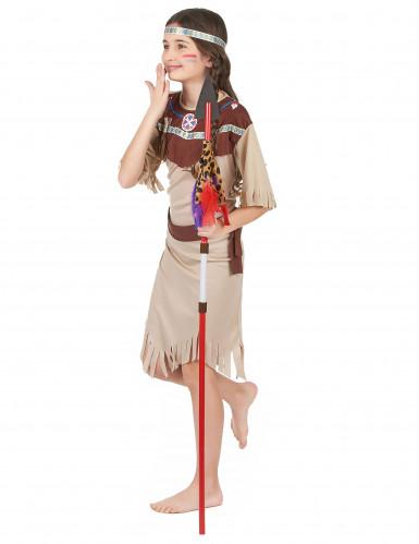 Beige Indianen kostuum voor meisjes-1