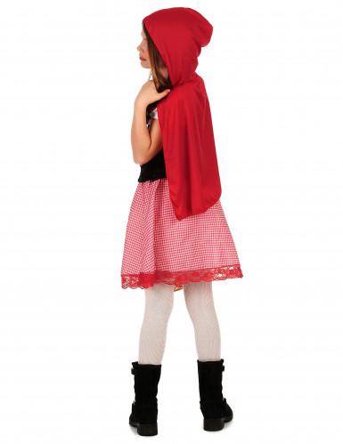 Roodkapjeskostuum met korset voor meisjes-1