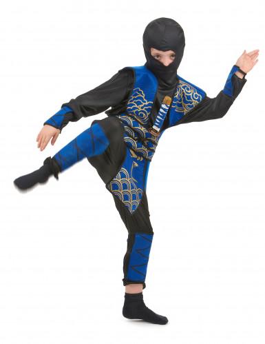 Blauw ninja kostuum voor jongens