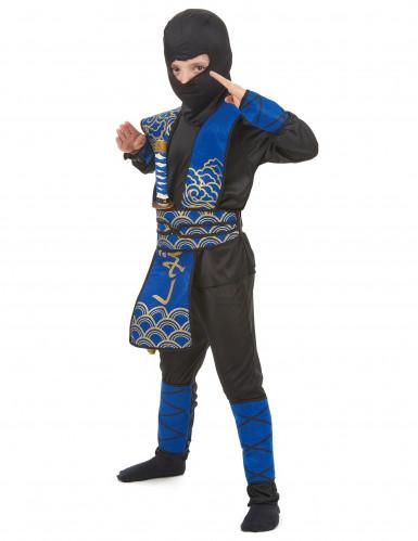 Blauw ninja kostuum voor jongens-1