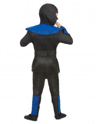 Blauw ninja kostuum voor jongens-2