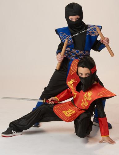 Blauw ninja kostuum voor jongens-3
