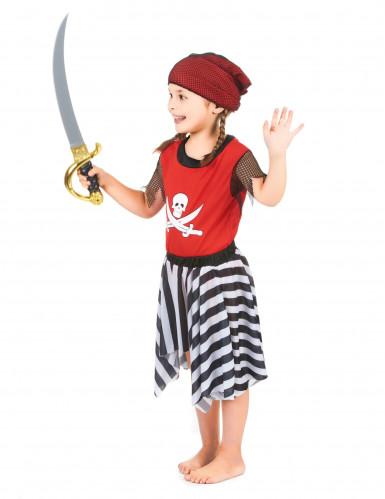 Doodskop en botten piraat kostuum voor meisjes-1