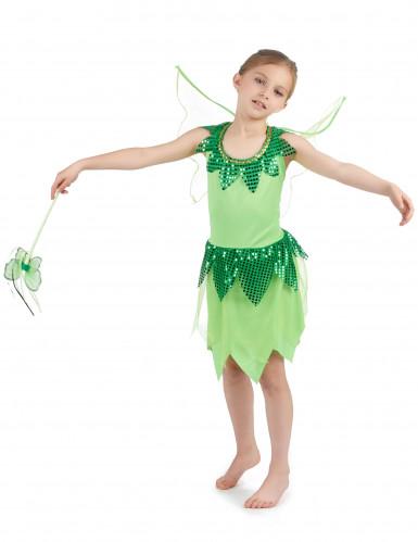 Groen feeën kostuum voor meisjes-1