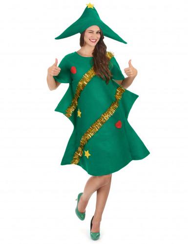 Groen kerstboomkostuum voor vrouwen