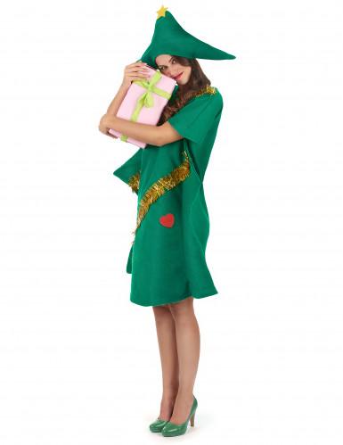 Groen kerstboomkostuum voor vrouwen-1