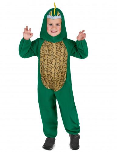 Gele en groene dinosaurus outfit voor kinderen-1