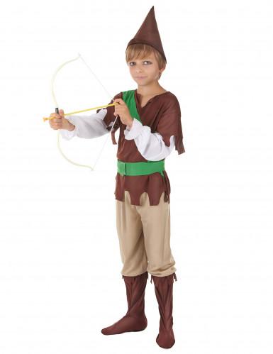 Groen en bruin Robin Hood pak voor jongens-1