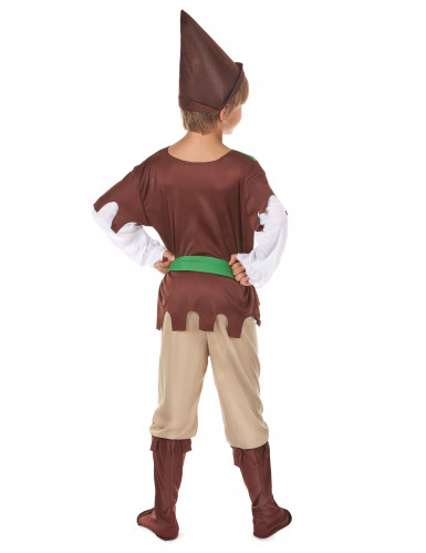 Groen en bruin Robin Hood pak voor jongens-2
