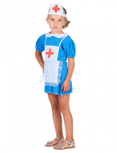 Blauw verpleegster kostuum voor meisjes-1