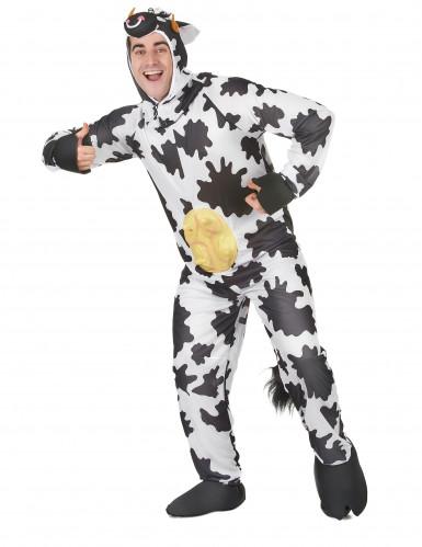 Koeien pak met uiers en capuchon voor volwassenen-1