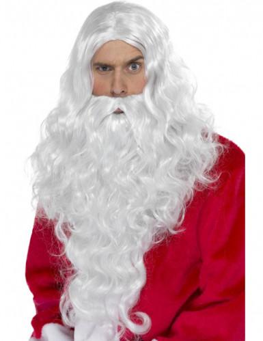 Kerstmanpruik en baard voor volwassenen