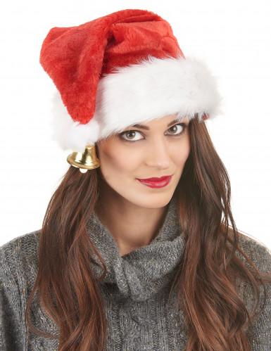 Luxueuze kerstmuts met belletje voor volwassenen-1