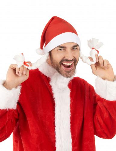 Kerstmuts met vlechten voor volwassenen-2