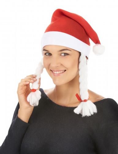 Kerstmuts met vlechten voor volwassenen-1