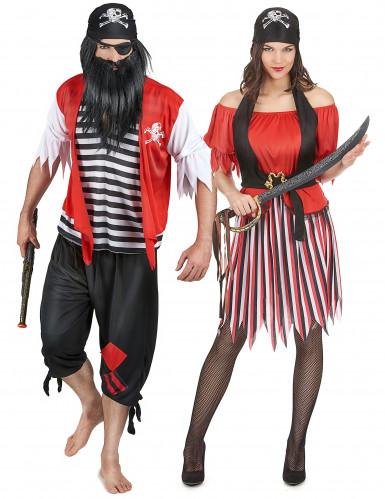 Piraten koppelkostuum voor volwassenen
