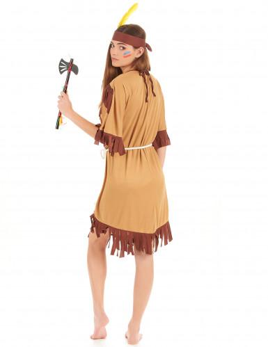 Bruin met beige indianen kostuum voor vrouwen-2