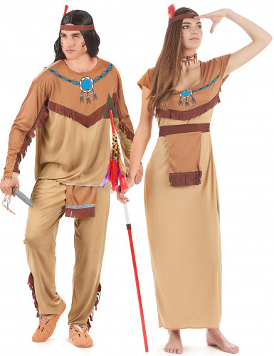 Bruin indianen koppel kostuums