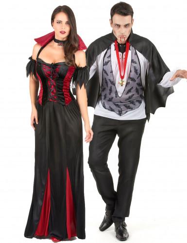 Gothic vampier koppel kostuum voor volwassenen