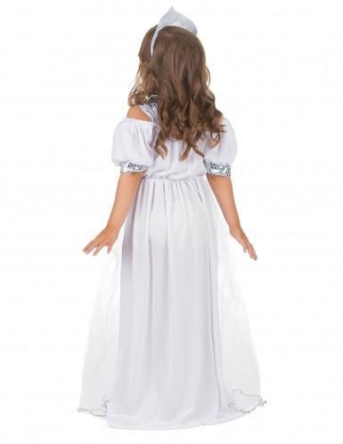 Zilverkleurige lovertjes prinsessen kostuum voor meisjes-2