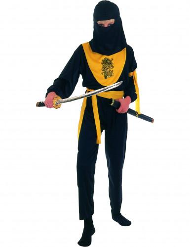 Geel ninjakostuum voor jongens