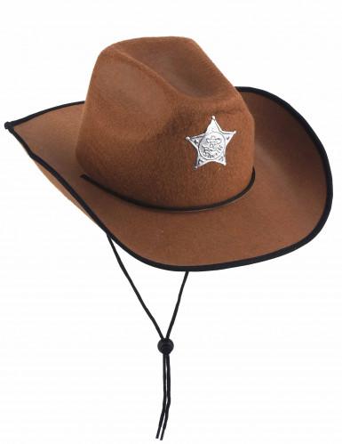 Kastanjebruine sheriffhoed