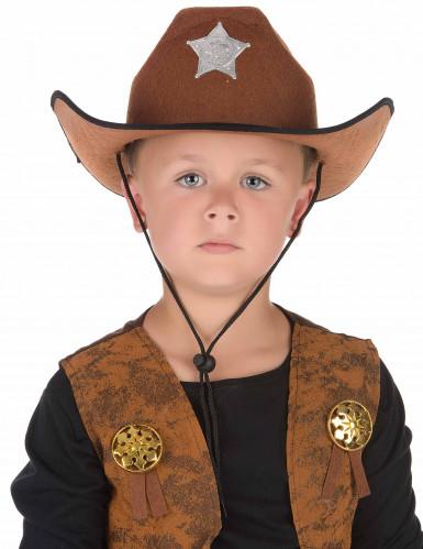 Kastanjebruine sheriffhoed-1