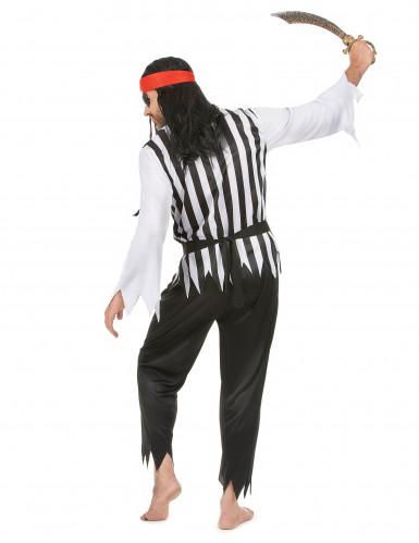 Gestreepte piraten kostuum voor heren-2