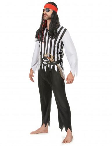 Gestreepte piraten kostuum voor heren-1