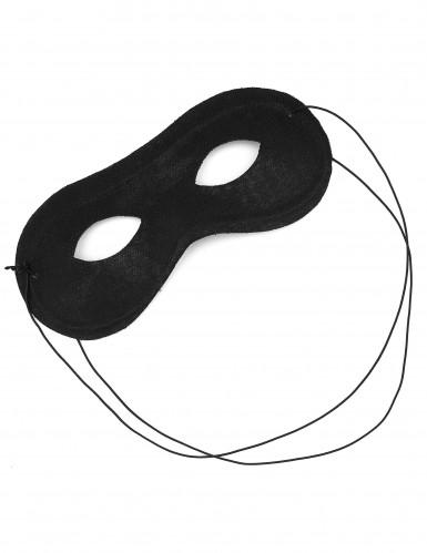 Zwart rond halfmasker voor volwassenen-1