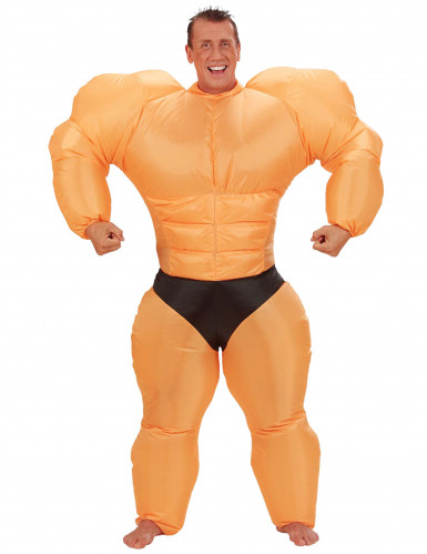 Opblaasbaar bodybuilderpak voor volwassenen