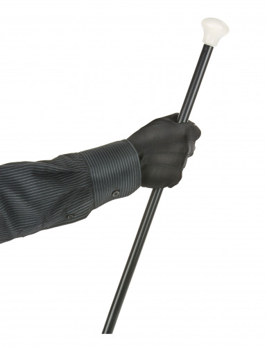 Zwarte handschoenen met sluitknoopje voor volwassenen-1